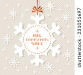 vector snowflake tag  ... | Shutterstock .eps vector #231051697