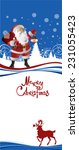 santa claus standing in the... | Shutterstock .eps vector #231055423