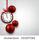 new year background with red... | Shutterstock .eps vector #231057283