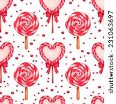 vector watercolor sugar candies ...   Shutterstock .eps vector #231063697
