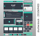 flat website elements  ui kits. ... | Shutterstock .eps vector #231069403