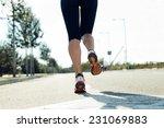 outdoor portrait of runner feet ... | Shutterstock . vector #231069883
