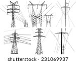 illustration with electric... | Shutterstock .eps vector #231069937