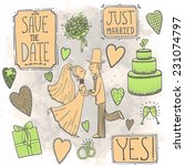 wedding set | Shutterstock .eps vector #231074797