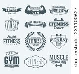 typographic fitness and gym... | Shutterstock .eps vector #231100627