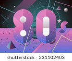 80 s fashion style background.... | Shutterstock .eps vector #231102403