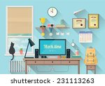 vector illustration of  modern... | Shutterstock .eps vector #231113263