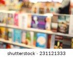 blur image of bookstore | Shutterstock . vector #231121333