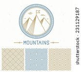 vector mountain design kit  ... | Shutterstock .eps vector #231129187