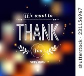 thank you card. vector... | Shutterstock .eps vector #231156967