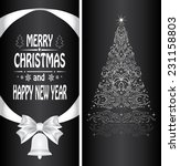 christmas card with a christmas ... | Shutterstock .eps vector #231158803