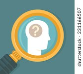 vector psychology concept in... | Shutterstock .eps vector #231166507