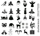 christmas holiday icons and... | Shutterstock .eps vector #231177223