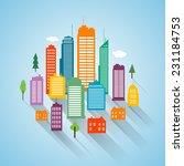 vector flat building design... | Shutterstock .eps vector #231184753