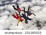 sports parachutist build a... | Shutterstock . vector #231185323