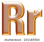 3d big and small r gold...   Shutterstock . vector #231185503