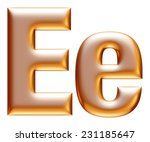 3d big and small e gold... | Shutterstock . vector #231185647