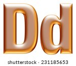 3d big and small d gold... | Shutterstock . vector #231185653