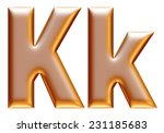 3d big and small k gold... | Shutterstock . vector #231185683