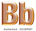 3d big and small b gold... | Shutterstock . vector #231189487