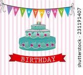 birthday design over white... | Shutterstock .eps vector #231191407