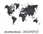a map of the world with a... | Shutterstock .eps vector #231193717