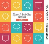 set of flat outlined speech... | Shutterstock .eps vector #231225733