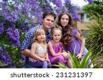 young beautiful family of... | Shutterstock . vector #231231397