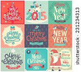 christmas set   labels  emblems ... | Shutterstock .eps vector #231234313