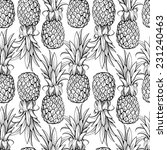pineapples seamless pattern | Shutterstock .eps vector #231240463