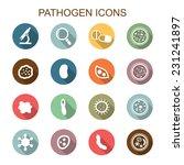pathogen long shadow icons ...   Shutterstock .eps vector #231241897