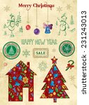 christmas and new year. design... | Shutterstock .eps vector #231243013