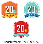 set of 20  sale and discount ... | Shutterstock .eps vector #231250273