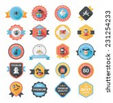 halloween badge banner design...   Shutterstock .eps vector #231254233