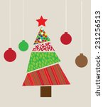 vector abstract christmas tree | Shutterstock .eps vector #231256513