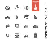 christmas icons set. vector...