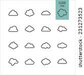 cloud icons. vector...