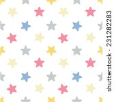colored stars. pattern. | Shutterstock .eps vector #231282283