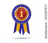 blue and gold ribbons award... | Shutterstock . vector #231297577