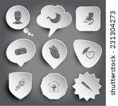 doctor  stomach  armchair ... | Shutterstock .eps vector #231304273