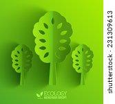 green eco neture tree vector... | Shutterstock .eps vector #231309613