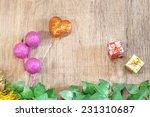 christmas decoration over... | Shutterstock . vector #231310687