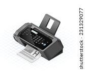 isometric fax machine vector... | Shutterstock .eps vector #231329077