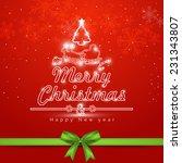 merry christmas celebration... | Shutterstock .eps vector #231343807