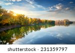 Morning Sun Over River In The...