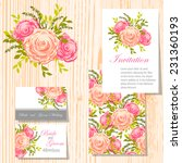 wedding invitation cards with... | Shutterstock .eps vector #231360193