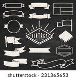 set of blank retro vintage... | Shutterstock .eps vector #231365653