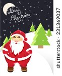 santa claus with merry...   Shutterstock .eps vector #231369037