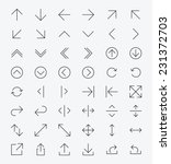 line arrow icon set   vector | Shutterstock .eps vector #231372703