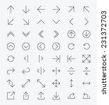 Line Arrow icon set | Vector | Shutterstock vector #231372703